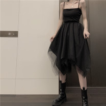 Dress Summer 2020 black S,M,L Mid length dress singleton  Sleeveless Solid color other routine camisole 51% (inclusive) - 70% (inclusive) other