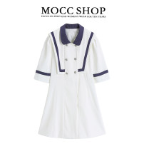 Dress Summer 2021 white S,M,L Short skirt singleton  Short sleeve commute stand collar High waist other Socket A-line skirt other Others 18-24 years old Type A Korean version 51% (inclusive) - 70% (inclusive) other other