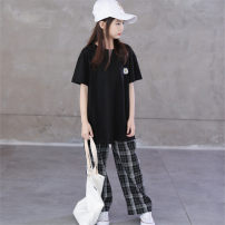 trousers Kapok Kor female 120cm,130cm,140cm,150cm,160cm,165cm summer trousers Britain There are models in the real shooting Casual pants Leather belt High waist cotton Don't open the crotch Cotton 95% other 5% Class B Six, seven, eight, nine, ten, eleven, twelve, thirteen, fourteen Chinese Mainland