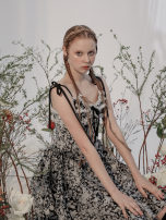 Dress Winter 2020 Crystal Silver and black, Crystal Silver and black pre-sale S,M,L Middle-skirt singleton  Sleeveless Sweet other High waist Decor Socket A-line skirt other camisole 18-24 years old Type A Group of Universe 31% (inclusive) - 50% (inclusive) Silk and satin polyester fiber Lolita