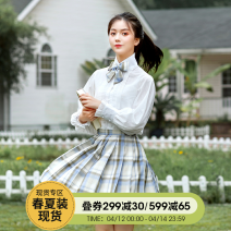 National costume / stage costume Summer 2020 Shirt in stock, plaid pleated skirt in stock [waist adjustable], bow tie [elastic style] - in stock, hair circle in stock, (jacket not available in XL size), bow tie [pin style] - in stock S. M, l, XL, one size fits all SLY20HZ025 The flower Dynasty