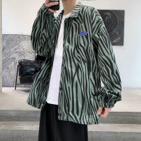 Jacket Other / other Youth fashion White, red, green S,M,L,XL,2XL,3XL routine easy Other leisure spring Long sleeves Wear out stand collar tide teenagers routine Single breasted 2021 Rubber band hem No iron treatment Closing sleeve stripe Color woven fabric printing Side seam pocket cotton