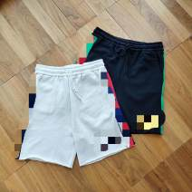 Casual pants Others Youth fashion White, black S,M,L,XL routine Shorts (up to knee) Other leisure easy Micro bomb summer youth tide middle-waisted Straight cylinder Sports pants No iron treatment cotton