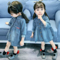 Dress Light blue, blue, denim dress [picture color], solid denim skirt - blue, dot denim skirt - blue, lace denim skirt - blue, denim gauze skirt - blue, lace denim skirt - blue, light blue female Other / other Cotton 95% other 5% spring and autumn leisure time Long sleeves Solid color Denim skirt
