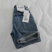 Jeans Summer 2021 wathet XS,S,M,L,XL shorts High waist Wide legged trousers routine washing Ocnltiy 96% and above