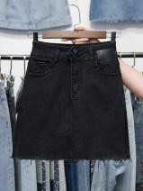 skirt Summer 2021 S,M,L,XL Black, 5063 black, 5063 blue, 6625 black, 6625 blue, 6112 black, 6112 blue, 5080 black, 5080 light blue, 5060 blue, 6108 light blue, 5315 black, 6119 light blue, 5061 black, 5061 blue, 5067 blue, 219 white, 219 light blue, 6106 black Short skirt commute High waist Type A