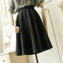 skirt Summer 2021 XS,S,M,L,XL longuette grace High waist Umbrella skirt Solid color Type A More than 95% Ocnltiy cotton