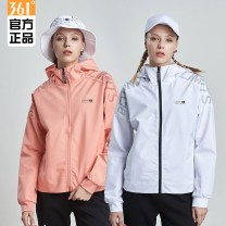 Sports jacket / jacket 361° female S/160,M/165,L/170,XL/175,2XL/180,3XL/185,4XL/190 Spring 2020 Hood zipper Brand logo, letter Comprehensive training Wear resistant, breathable and windproof Comprehensive sports series