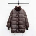 Down Jackets Winter 2020 Small four original Brown Average size White duck down 90% Medium length Long sleeves thickening zipper stand collar commute routine Straight cylinder Solid color pocket 25-29 years old polyester fiber Memory fabric