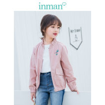 Plain coat Inman / Inman female 110cm 120cm 130cm 140cm 150cm 160cm Yellow 2.0 yellow pink spring and autumn Korean version Zipper shirt There are models in the real shooting routine nothing Cartoon animation cotton other Cotton 100% Class B Autumn of 2019