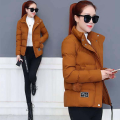 Cotton padded clothes Black, army green, caramel, orange, pink 1 M,L,XL,2XL,3XL Winter of 2019 Other / other have cash less than that is registered in the accounts Long sleeves thickening zipper commute stand collar routine Straight cylinder Solid color Korean version 002 Pocket, button other