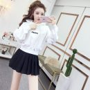 Fashion suit Spring 2021 S,M,L Single white sweater is one size, single black pleated skirt, white sweater + Black pleated skirt, single Plush white sweater, plush white sweater + Black pleated skirt 18-25 years old Other / other