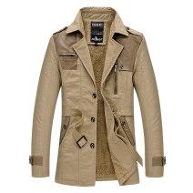 Windbreaker Khaki, black, army green Manus Youth fashion M,L,XL,2XL,3XL Single breasted Medium length standard Other leisure winter middle age