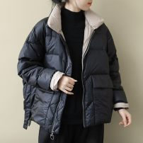 Down Jackets Winter of 2019 Other / other Black, khaki, khaki S, M White duck down 90% routine Long sleeves Thin money Single breasted stand collar commute routine Solid color literature 96% and above nylon