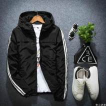 Jacket Other / other Youth fashion routine Super slim motion spring Long sleeves Wear out Hood Youthful vigor teenagers routine Zipper placket 2018 Rib hem washing Closing sleeve More than two bags) Side seam pocket