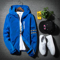 Jacket Other / other Youth fashion Blue, black, gray, red, white, two bar coat black, two bar coat red, two bar coat white, two bar coat gray, camouflage coat red, plaid coat khaki, plaid coat gray, plaid coat black thin easy Other leisure spring Long sleeves Wear out Hood tide teenagers