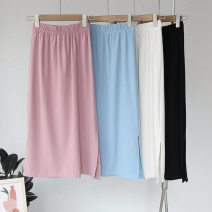 skirt Spring 2021 Average size Black, blue, apricot, pink Middle-skirt Retro High waist other Solid color 25-29 years old 51% (inclusive) - 70% (inclusive) other other Splicing