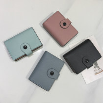 wallet Short Wallet PU Doxishi Turquoise light green brand new Japan and South Korea female Buckles Solid color 80% off Erect funds youth other