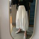 skirt Spring 2021 Average size White, black, haze blue, cool white, cool black, black corduroy, white corduroy Mid length dress Versatile High waist A-line skirt Solid color Type A BD190706 More than 95% other BUERR polyester fiber 161g / m ^ 2 (including) - 180g / m ^ 2 (including)