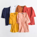 T-shirt S,M,L,XL Summer of 2019 Short sleeve Crew neck easy Regular routine commute cotton 86% (inclusive) -95% (inclusive) 18-24 years old Korean version youth Solid color Shi Fanxiu