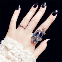 Ring / ring Alloy / silver / gold RMB 25-29.99 Other / other brand new goods in stock Japan and South Korea female Fresh out of the oven Alloy inlaid artificial gem / semi gem other
