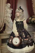 Dress Winter 2016 Black purple x produces normal waist cat S M L