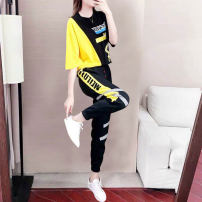 Fashion suit Summer 2020 S,M,L,XL,XXL,XXXL Black, limited quantity... The price will be increased by 49.9 soon, the collection baby and shopping cart will be delivered first 18-25 years old 591# 31% (inclusive) - 50% (inclusive) spandex