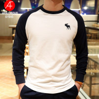 T-shirt Fashion City thick S,2XL,XL,M,L AFGLORIOUS&YEAS Long sleeves Crew neck Self cultivation daily autumn CT09-2019 Cotton 100% youth routine Simplicity in Europe and America Cotton wool 2020 Mosaic color Embroidered logo cotton other washing Fashion brand More than 95%