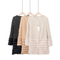 woolen coat Spring 2021 M,L,9,11,13 Apricot, black gray, gray white, gray blue wool 30% and below AD208