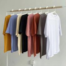 T-shirt Average size Summer 2020 Short sleeve Crew neck easy Regular routine commute cotton 96% and above Korean version