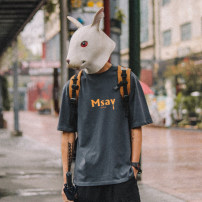 T-shirt Youth fashion White, gray, black routine M,L,XL,2XL Others Short sleeve Crew neck easy Other leisure summer Cotton 95% other 5% teenagers Off shoulder sleeve tide other 2021 Alphanumeric printing cotton The thought of writing No iron treatment Fashion brand More than 95%
