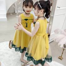 Dress Green dress with yellow, green dress with pink female Other / other The recommended height is 100cm for Size 110, 110cm for Size 120, 120cm for Size 130, 130cm for size 140, 140cm for size 150, 150cm for size 160, and one size larger for size smaller Other 100% summer Korean version other other