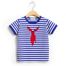 T-shirt Zeng Fuzi 80cm,90cm,100cm,110cm,120cm,130cm,140cm,150cm,160cm,170cm,70cm neutral summer Short sleeve Crew neck leisure time No model nothing cotton stripe Cotton 100% ZFZ32 Class A Sweat absorption Chinese Mainland Guangdong Province zhongshan