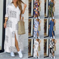 Dress Autumn 2020 White letters, tie dyed black, camouflage, denim blue, chain, broken decor S,M,L,XL,2XL longuette singleton  Long sleeves street middle-waisted Decor Single breasted routine Type H 31% (inclusive) - 50% (inclusive) Europe and America