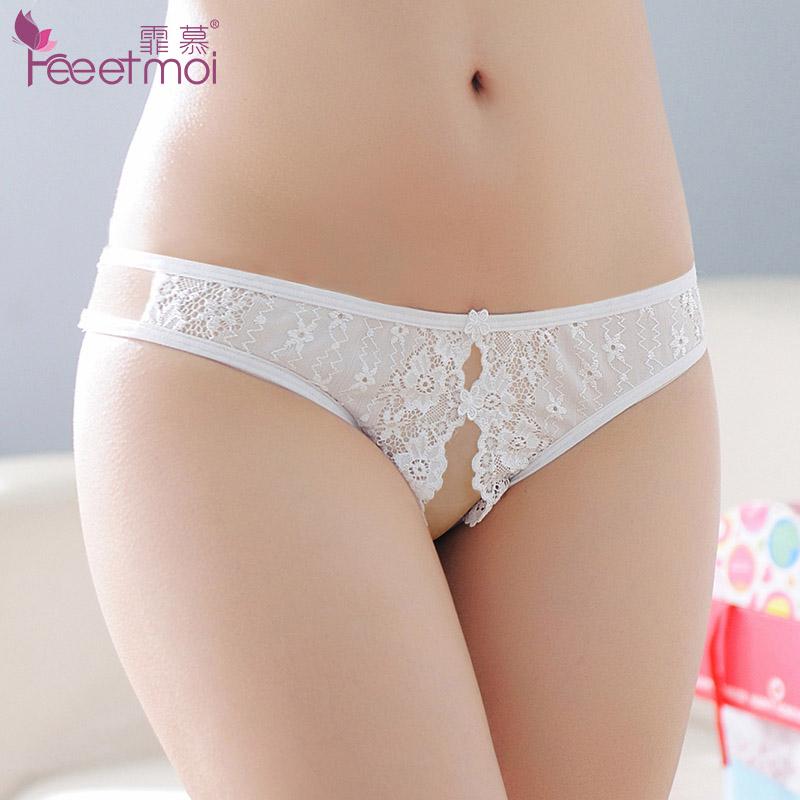 Women's fun underwear Fei Mu Open crotch style Lace fabric Average size seven thousand one hundred and thirty-two Lace open crotch underwear Lace open crotch underwear Lace