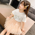 suit ConnyStyle 105cm,110cm,120cm,130cm,140cm,150cm,160cm,165cm female summer Korean version Short sleeve + skirt 2 pieces routine There are models in the real shooting Socket nothing other other children Giving presents at school Other 100%