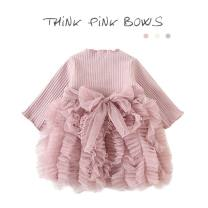 Dress Gray, white, pink female Other / other 90cm,73cm,110cm,100cm,80cm Cotton 95% other 5% spring and autumn princess cotton Cake skirt 12 months, 6 months, 9 months, 18 months, 2 years, 3 years