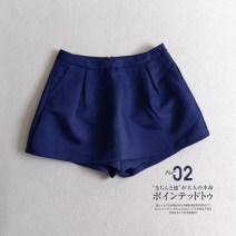 Casual pants Black, blue Average size Summer 2016 shorts Natural waist commute routine 51% (inclusive) - 70% (inclusive) other cotton Korean version zipper