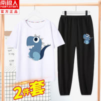 suit NGGGN 110cm 120cm 130cm 140cm 150cm 160cm 165cm male summer Cartoon Short sleeve + pants 2 pieces Thin money There are models in the real shooting Socket nothing Cartoon animation cotton YJF3212014 Class B Cotton 100% Summer 2021 Chinese Mainland Hubei province Wuhan City