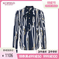 shirt Spring 2021 polyester fiber 96% and above Long sleeves commute Regular Crew neck Single row multi button other 30-34 years old SCOFIELD