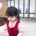 Dress Red, apricot female Send sauce Other 100% spring and autumn lady Skirt / vest Solid color corduroy A-line skirt Class B 18 months, 2 years old, 3 years old, 4 years old, 5 years old, 6 years old, 7 years old, 8 years old, 9 years old, 10 years old Chinese Mainland
