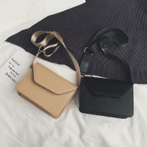 Bag The single shoulder bag PU Small square bag Other / other brand new Japan and South Korea Small leisure time hard Magnetic buckle no Solid color Single root One shoulder cross nothing youth Horizontal square Sewing Telescopic handle PU leather