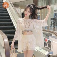 Fashion suit Summer of 2019 Average size Single vest, single coat, shorts, three piece suit 18-25 years old Other / other X7-3