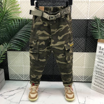 trousers Other / other male 27,28,29,30,31 Camouflage green spring and autumn trousers leisure time No model Leggings Leather belt middle-waisted cotton Don't open the crotch Six, seven, eight, nine, ten, eleven, twelve, thirteen, fourteen