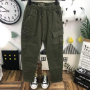 trousers Other / other male 26 (for 140 height), 27 (for 145 height), 28 (for 145-150 height), 29 (for 150-155 height), 30 (for 156-160 height) green spring and autumn trousers leisure time No model Casual pants Leather belt middle-waisted cotton Don't open the crotch Class B 26.27.28.29.30