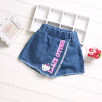 trousers Chenghang xuanjie female 100cm,110cm,120cm,130cm,140cm,150cm,160cm summer shorts leisure time No model Jeans Leather belt middle-waisted Denim Open crotch Cotton 85% others 15% Three, four, five, seven, eight, nine, ten, eleven Chinese Mainland Jiangsu Province Suzhou