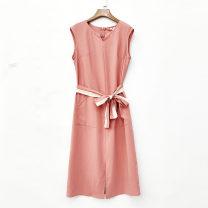 Dress Summer 2021 Pink M,L,XL,2XL More than 95% other