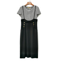 Dress Summer 2021 Black and white M,L,XL,2XL 31% (inclusive) - 50% (inclusive) other nylon