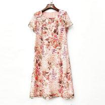 Dress Summer 2021 Blue, pink M,L,XL,2XL More than 95% other other