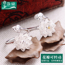 Ring / ring Silver ornaments 101-200 yuan Loya [single color] plain silver [double color] gilt brand new goods in stock ethnic style female Fresh out of the oven Not inlaid Plants and flowers JZ-001 99 Zuyin